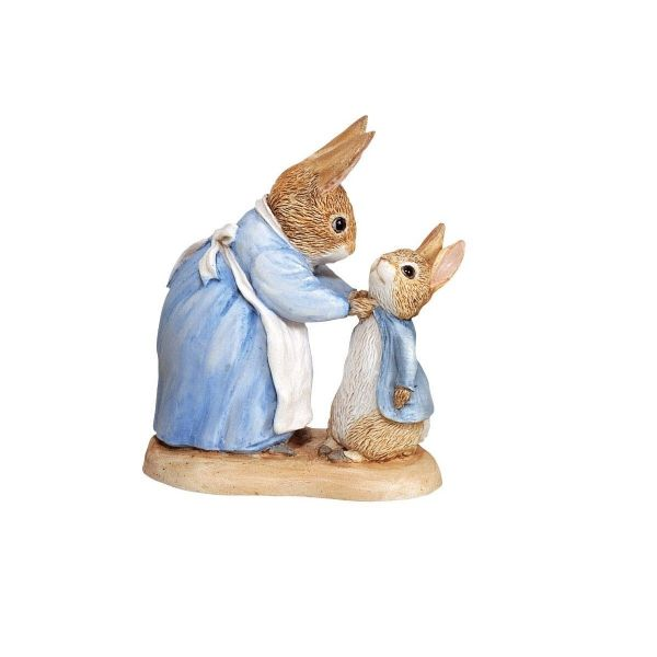 Mrs Rabbit and Peter. Beatrix Potter Figurine, 271780